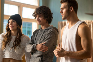 (L-R) ADAM SEVANI, BRIANA EVIGAN and RYAN GUZMAN star in STEP UP: ALL IN